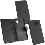 Fontastic OZBO Ledertasche Diary Rebo - schwarz - für Samsung Galaxy S6 Edge