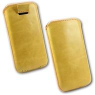 Fontastic OZBO Ledertasche Ovin XL - gelb - 137x71x10mm
