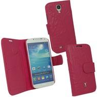 OZBO Ledertasche Piega Diary - pink - für Samsung Galaxy S4