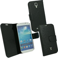 OZBO Ledertasche Piega Diary - schwarz - für Samsung Galaxy S4