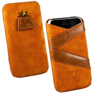 Fontastic OZBO Ledertasche Valera M - orange - 118x60x11mm