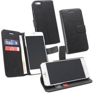 Fontastic OZBO PU Tasche Diary Business - schwarz - für Apple iPhone 6+/ 6s+