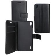 OZBO PU Tasche Diary Business - schwarz - für Huawei Ascend P7 Mini