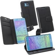 OZBO PU Tasche Diary Business - schwarz - für Samsung Galaxy Alpha