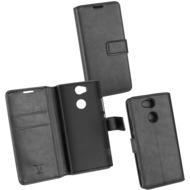OZBO PU Tasche Diary Business schwarz komp. mit Sony Xperia XA2