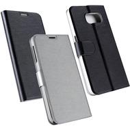 Fontastic OZBO PU Tasche Diary Chameleon - schwarz/ silber für Samsung Galaxy S6
