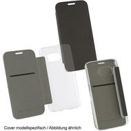"Fontastic OZBO PU Tasche ""Diary Clear"" - schwarz - für Samsung Galaxy S7"