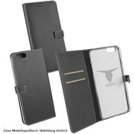 "Fontastic OZBO PU Tasche ""Diary Leda"" - schwarz - für Apple iPhone 7 Plus /  iPhone 8 Plus"
