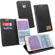 OZBO PU Tasche Diary Slim - schwarz - für Samsung Galaxy Note 4