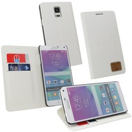 Fontastic OZBO PU Tasche Diary Slim - weiß - für Samsung Galaxy Note 4