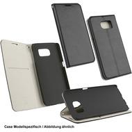 Fontastic OZBO PU Tasche Diary Supra - schwarz/ grau für Samsung Galaxy S7 Edge