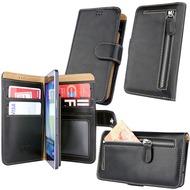 OZBO PU Tasche Diary Wallet 3XL - schwarz - universal 153x78x9