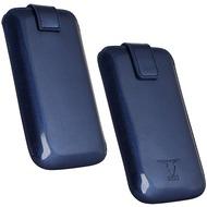 Fontastic OZBO PU Tasche Pearl M - blau - 118x60x11mm