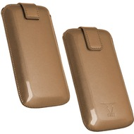 Fontastic OZBO PU Tasche Pearl M - bronze - 118x60x11mm