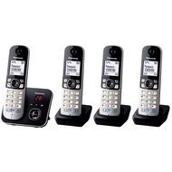 Panasonic KX-TG6824GB Quartett, schwarz
