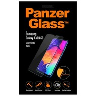 PanzerGlass Samsung Galaxy A30/ A50 Case Friendly Black /  Edge-to-Edge /  Super+ Glass