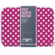 "pat says now Laptop Sleeve Pink Polka Dot 7""-9"" (iPad)"