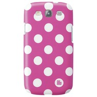 pat says now Case Pink Polka Dot für Samsung Galaxy S3