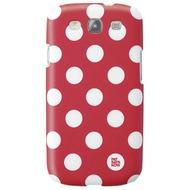 pat says now Case Red Polka Dot für Samsung Galaxy S3