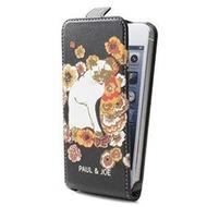 Paul & Joe Velours - Flip Ledertasche/ Hülle/ Case - Apple iPhone 5, 5S