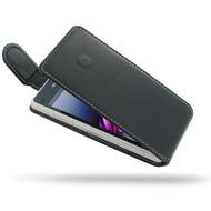 PDair Ledertasche Flip für Sony Xperia Z1 Compact, Echtleder schwarz