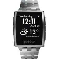 Pebble Steel Watchband Brushed Stainless