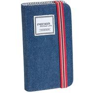 Pedea BookCover Indigo für Samsung Galaxy S5, Stoff, blau