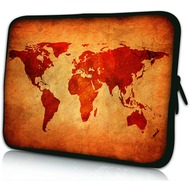 Pedea Design Tablet-Tasche 10 Zoll brown global map