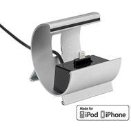 Pedea Dockingstation COLOR-DOCKS Lightning für Apple, silber
