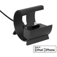 Pedea Dockinstation für Apple iPhone SE/ 6/ 6 Plus/ 5/ 5S/ 5C, schwarz