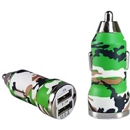 Pedea Dual-USB KFZ Adapter Fashion, 2.1A, camo