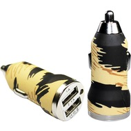 Pedea Dual-USB KFZ Adapter Fashion, 2.1A, tiger