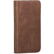 Pedea Echtleder Book Cover für iPhone 7, tobacco