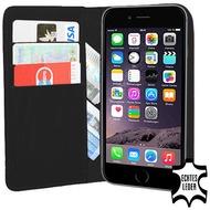 Pedea Echtledertasche (Bookstyle) für iPhone 6 Plus/ 6S Plus, schwarz