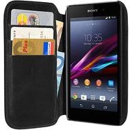 Pedea Echtledertasche (Bookstyle) für Sony Xperia Z1, schwarz