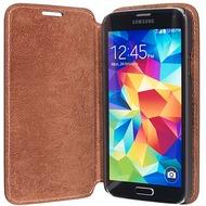 Pedea Echtledertasche Boston für Samsung Galaxy S5, tobacco