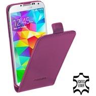 Pedea Echtledertasche  (Flipcase) für Samsung Galaxy S5 mini, lila