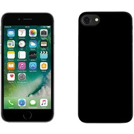 Pedea Soft TPU Case (glatt) für Apple iPhone 7, mattschwarz
