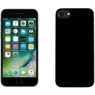Pedea Soft TPU Case (glatt) für iPhone 7 Plus, mattschwarz