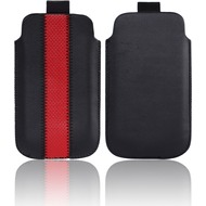 Twins Striped Pouch, schwarz-rot