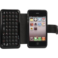 Twins Tastatur Leder Folio f�r iPhone 4 /  4S, schwarz