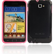 Twins 2Color Bumper f�r Samsung Galaxy Note, pink-schwarz