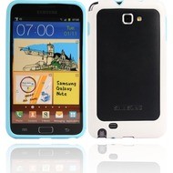 Twins 2Color Bumper f�r Samsung Galaxy Note, blau-wei�