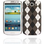 Twins Plaid für Samsung Galaxy S3, braun-weiß
