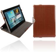 Twins Snake Folio Stand für Samsung Galaxy Tab2 10.1, braun