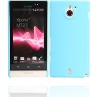 Twins Shield Matte für Sony Xperia sola, himmelblau