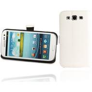 Twins BookFlip Leather für Samsung Galaxy S3, weiß