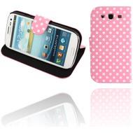 Twins DotFlip für Samsung Galaxy S3, pink-weiß