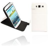 Twins Flip-Flap Leather für Samsung Galaxy S3, weiß