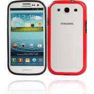 Twins 2Color Bumper für Samsung Galaxy S3, schwarz-rot